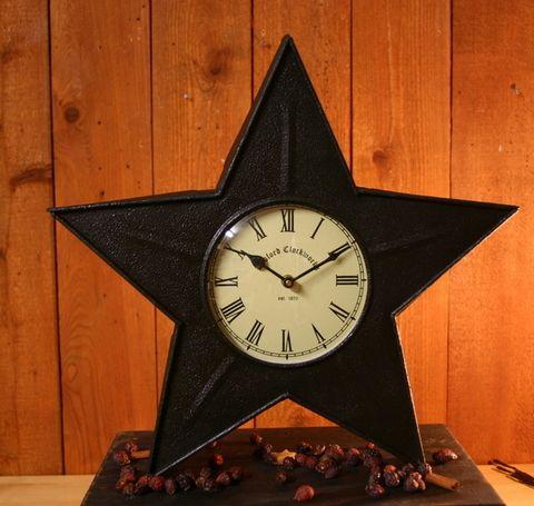 Black Star Metal Clock Metal Clock Clock Primitive Stars