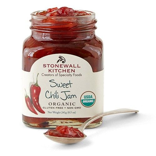 Sweet Chili Jam (Organic) - We took bold jalapenos, savory red bell peppers, pure cane sugar and a few tasty spices to create this deliciously robust jam. It's not too hot, not too sweet and all organic. Enjoy it on crackers, with cheese or as a pan sauce.