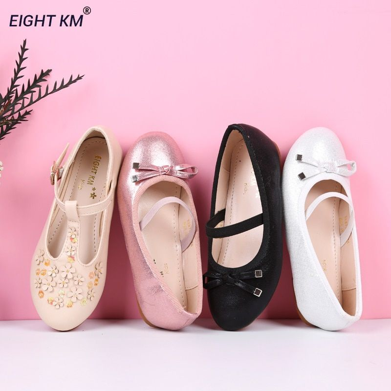 EIGHT KM Mary Jane Flat Sandals Kids Leather Shoes Formal Party Princess Balerinas Nina Shoes for Girls Fashion Butterflyknot 16151 USD 3600 OFF