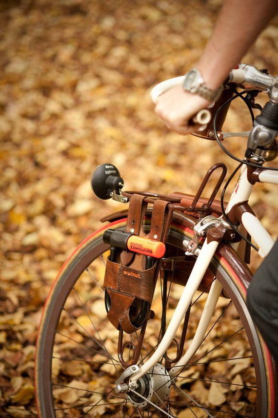 Leather Kryptonite Bike Lock Holder Bicycle Bicycle Gear Bike