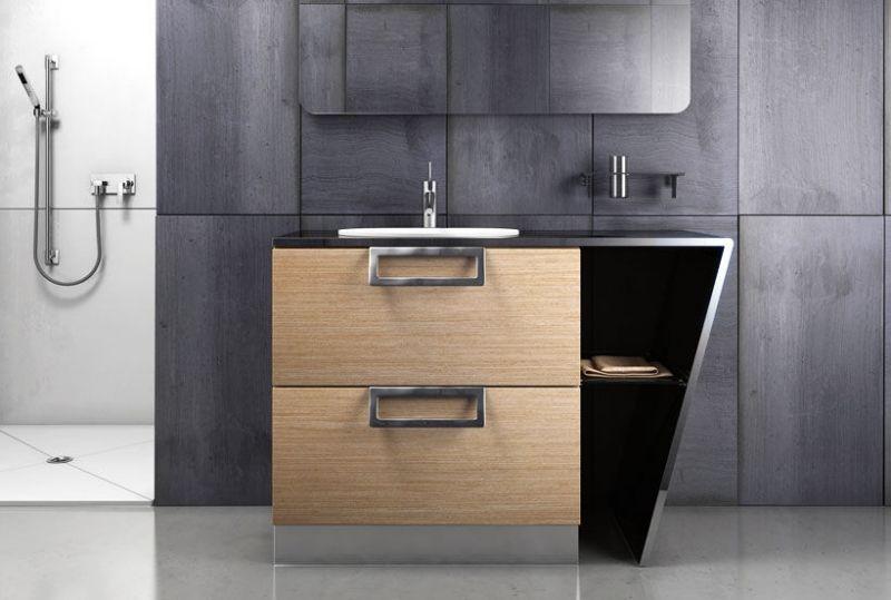 Badezimmermöbel aus Holz \u2013 50 Ideen für Badschrank, Waschtisch und - bad spiegel high tech produkt badezimmer
