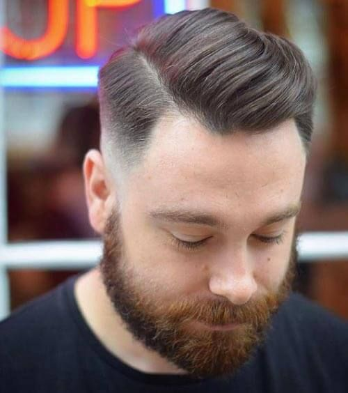 Side Part Comb Over Haircut Mens Hairstyles Mens Comb Over Haircut Hairstyles For Receding Hairline