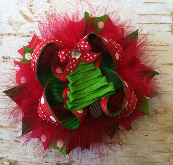 Hey, I found this really awesome Etsy listing at https://www.etsy.com/listing/160593886/boutique-christmas-hairbow