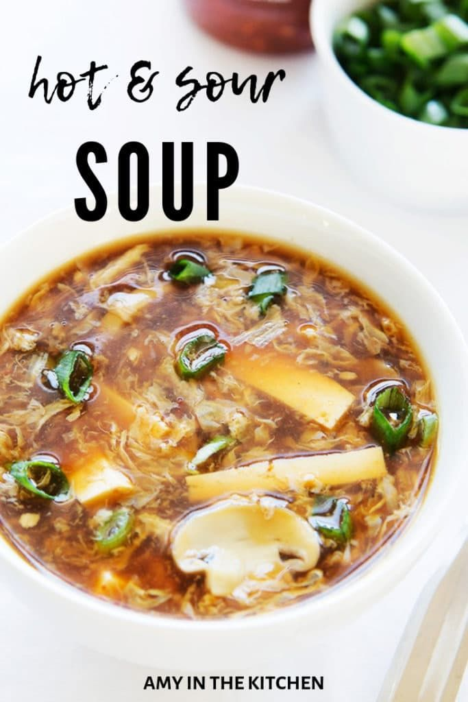 Hot and Sour Soup Recipe - Quick and Easy! | Amy in the Kitchen