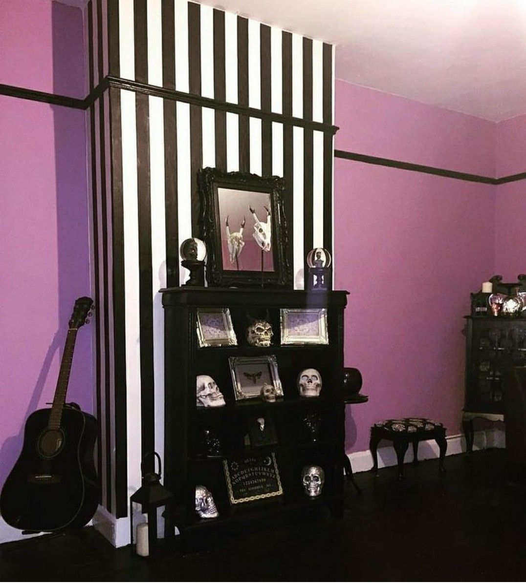Accent wall Gothic home decor, Gothic house, Goth home decor