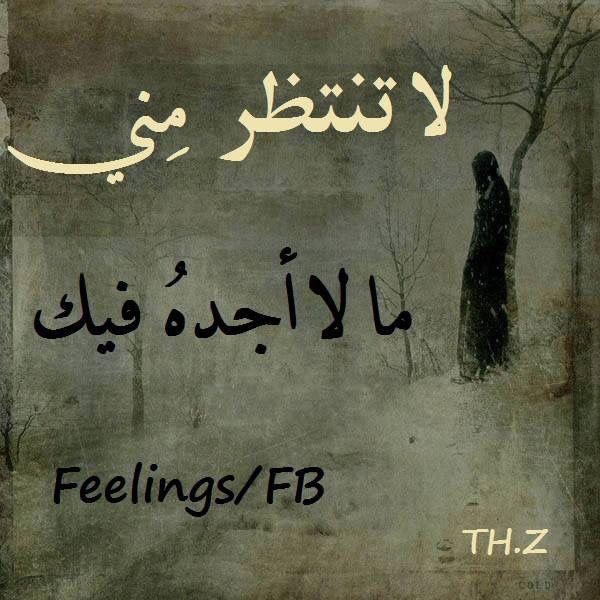لا تنتظر مني Poems Quotes Feelings