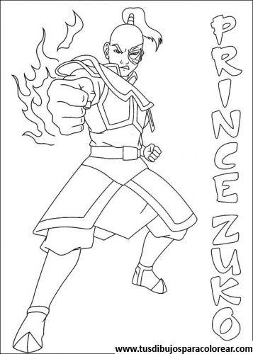 Avatar, la leyenda de Aang para colorear imagen 22 gratis | Avatar ...