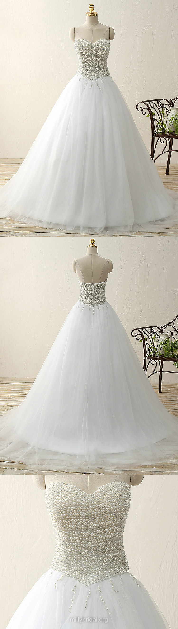 White prom dresses princess ball gown party dresses sweetheart