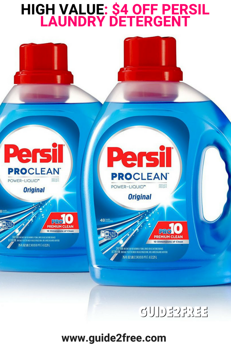 High Value Coupon 2 To 5 Off Persil Laundry Detergent Persil