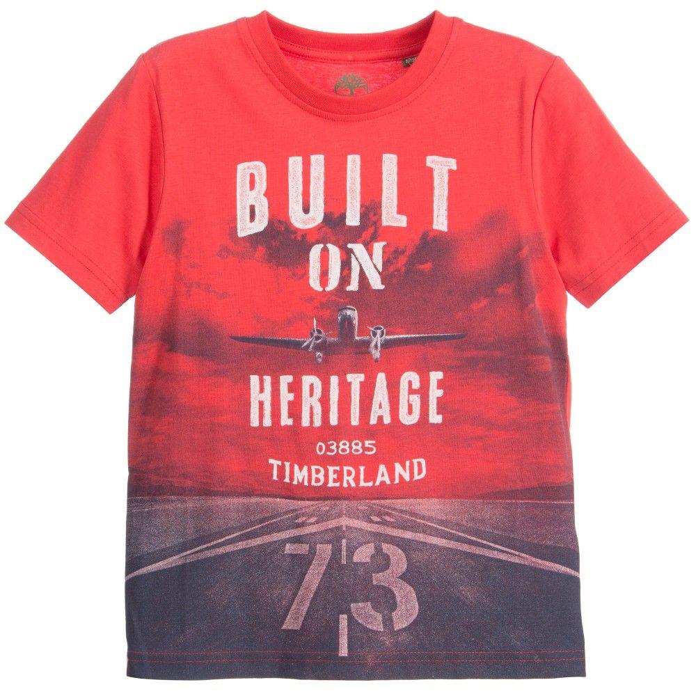 b951d6b27814 Boys Red  Heritage Aeroplane  Print T-Shirt