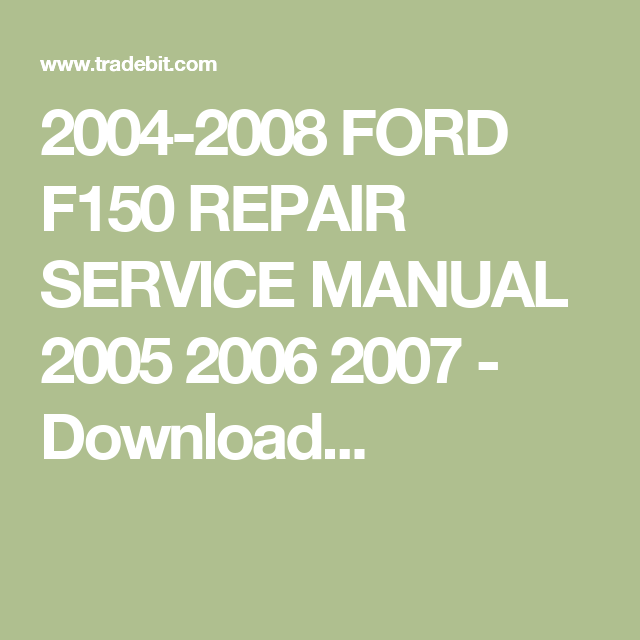2007 ford f150 service manual