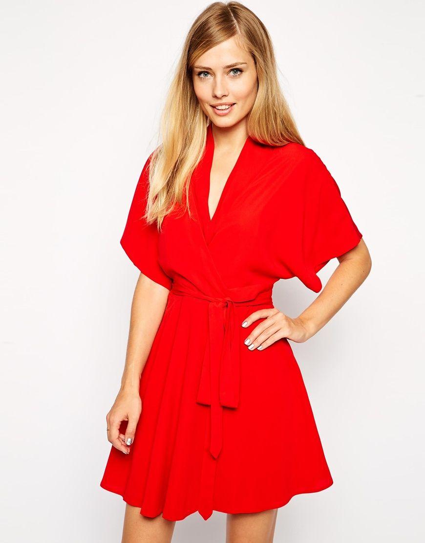 asos red kimono dress - Google Search | Wavey Garms | Pinterest ...