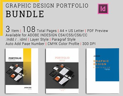 3 graphic design portfolio templates in both and letter format just