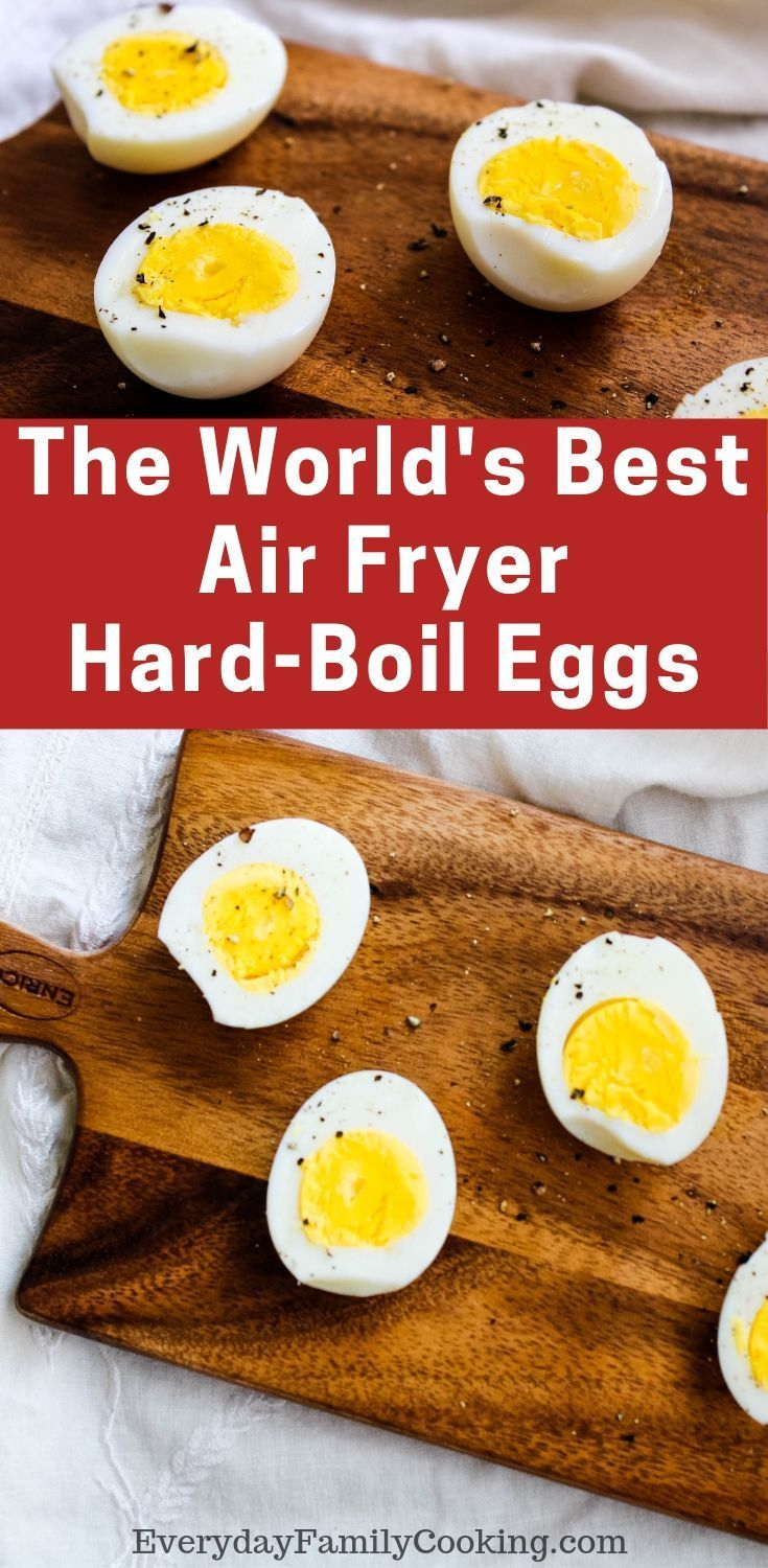 Air Fryer HardBoiled Eggs Recipe Air fry recipes, Air