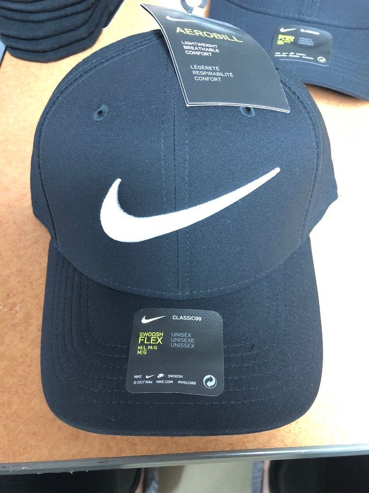 13c4a1aea9203 NIKE Unisex Vapor Classic 99 Swoosh Flex Fitted Hat 803933-011 NWT Size M L   fashion  clothing  shoes  accessories  unisexclothingshoesaccs ...