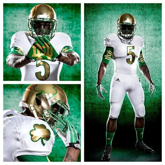 a3bed0d42 Notre Dame s new Shamrock Series uniforms