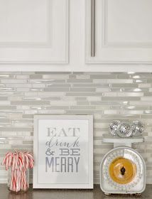 Gray And White Mosaic Backsplash Tile Kitchens White Kitchen