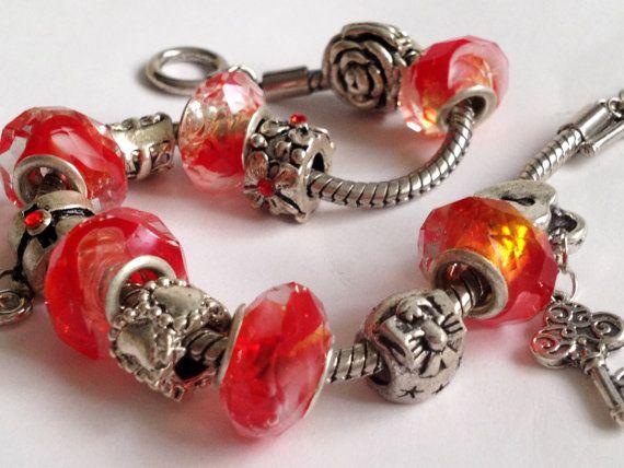 Sale/ Pandora bracelet Valentine's Day 2/ Gift/ by ElenaVorobey