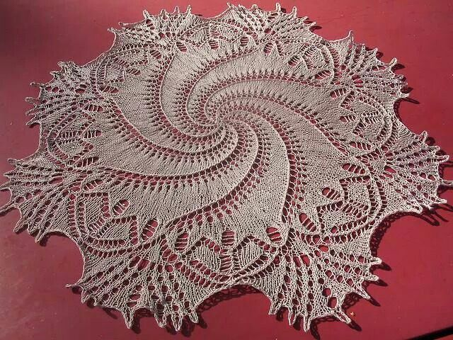 Pretty Knitted Doily Knitting Pinterest