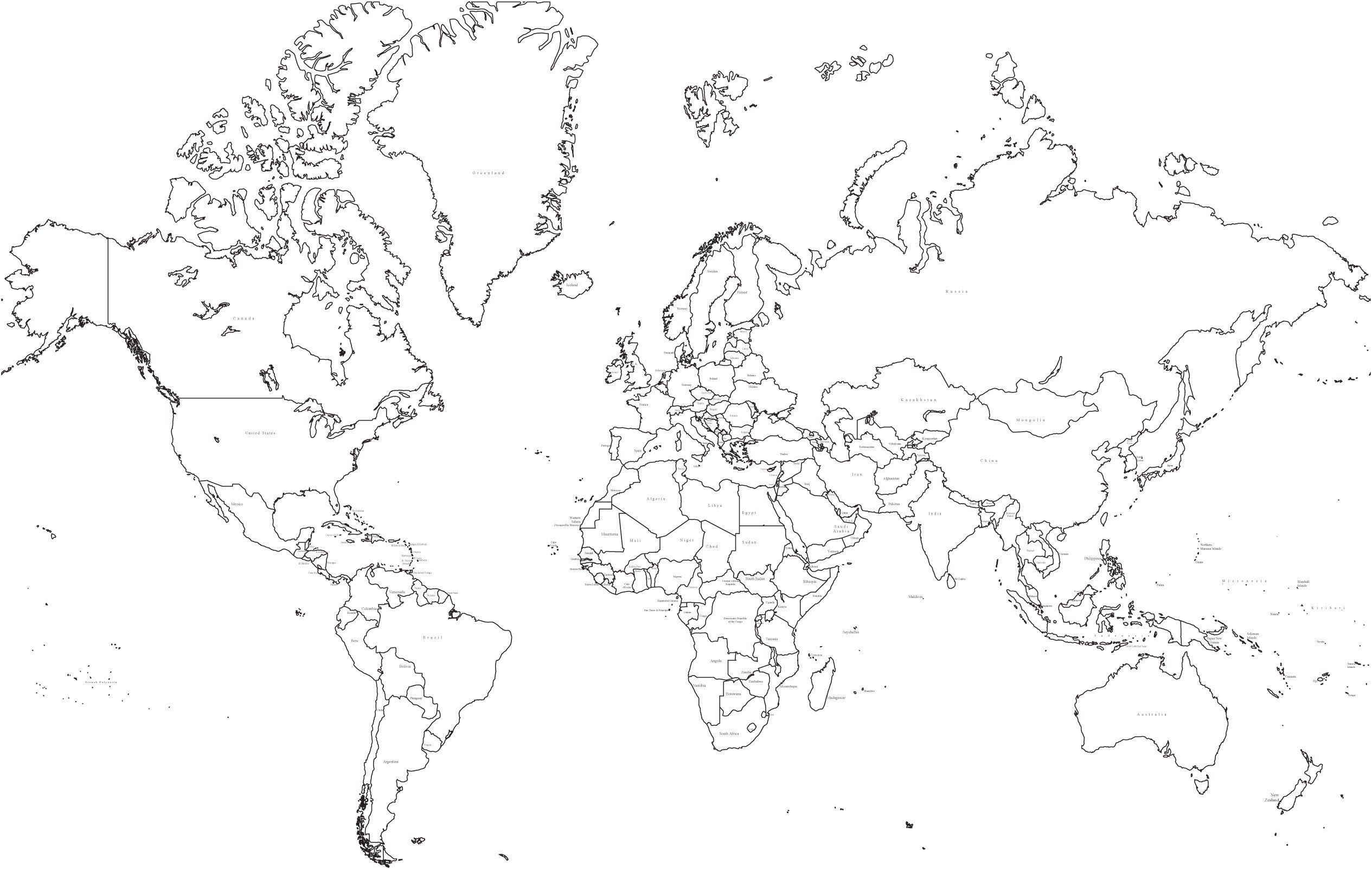 World Map Political Black And White Best Of Printable Maps S - Blank-political-map-of-us