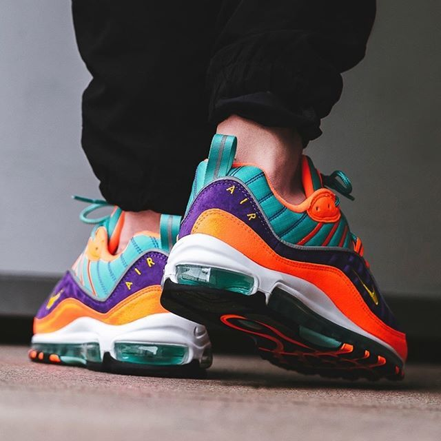 pretty nice dbfe3 c5267 🔥JUST DROPPED🔥 Nike Air Max 98 Quickstrike - Cone Tour Yellow Hyper Grape  is now available in CPT, JHB and on www.shelflife.co.za 📸  BSTN store