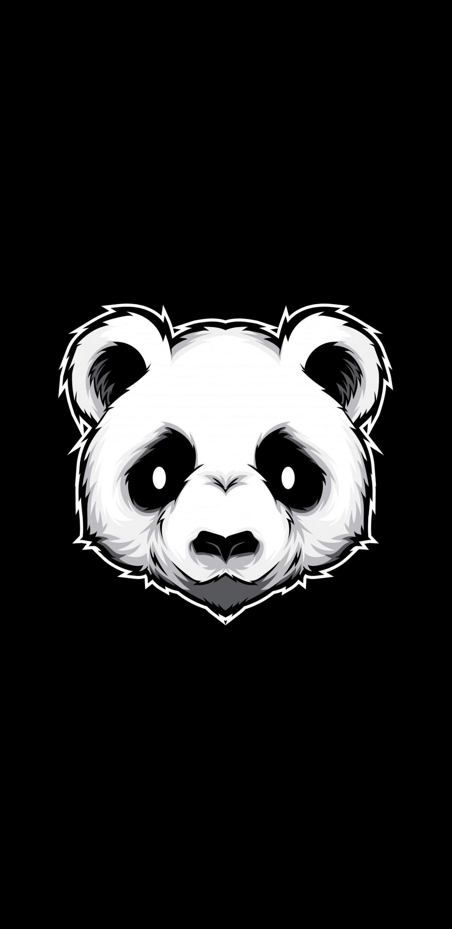 Pin By Bellatrixxph On Iphone Wallpaper Panda Art Wallpaper Amoled Graffiti Wallpaper Cute black panda wallpaper