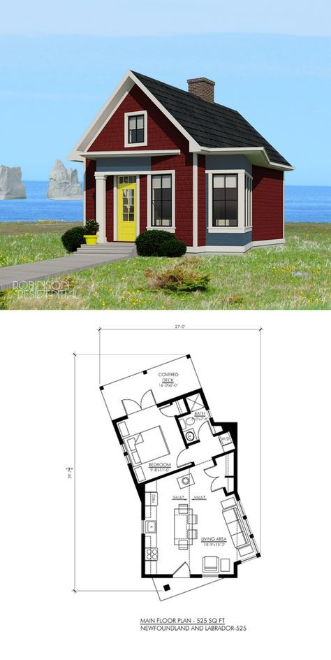 Newfoundland And Labrador 525 Robinson Plans Tiny House Plans Tiny House Floor Plans Tiny House Cabin