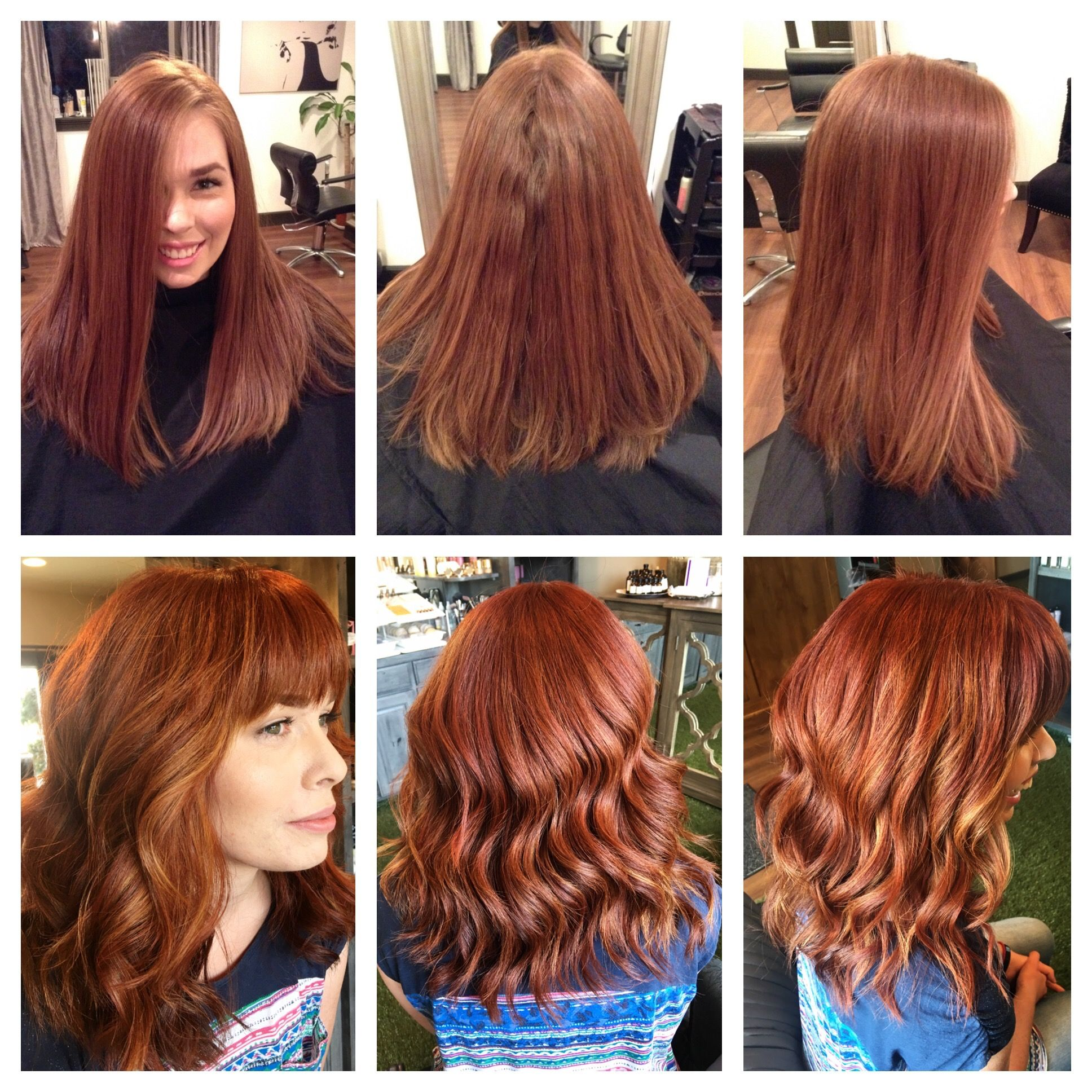 Before After Redhead Enchanced Natural Color Copper