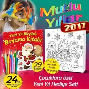 2017 özel Yılbaşı çocuk Hediyeleri Seti Yeni Yıl Büyüsü Boyama