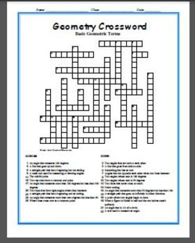 geometry crossword puzzle