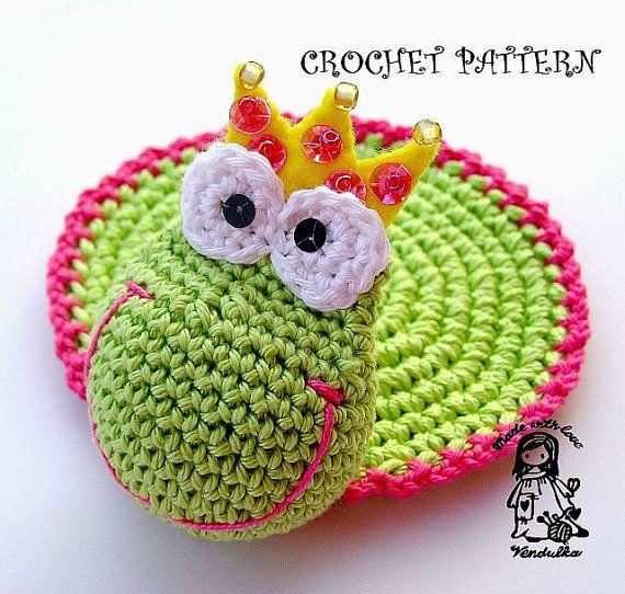 Crochet Pattern Frog coaster by VendulkaM on Etsy, 4.00   tejidos ...