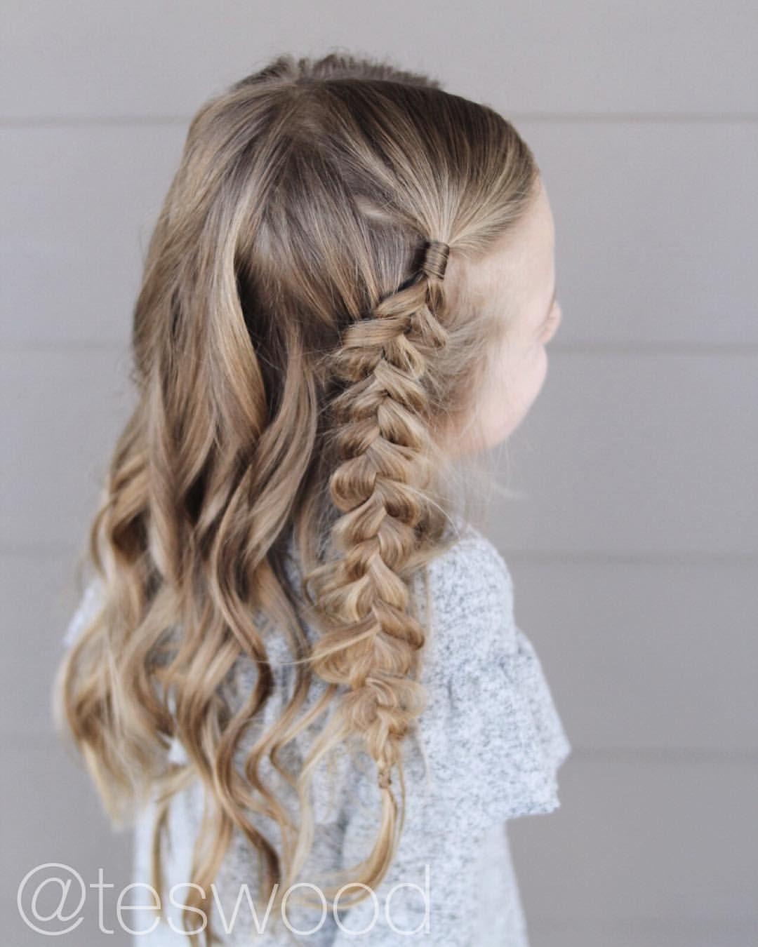"Little Girl Hairstyle Youtube: Braid. Little Girl Hair. Tutorial On YouTube ""Tessi Wood"