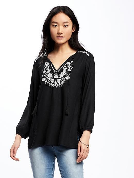 0b11006ec13 Relaxed Embroidered-Yoke Tunic for Women | Old Navy | {wishlist ...