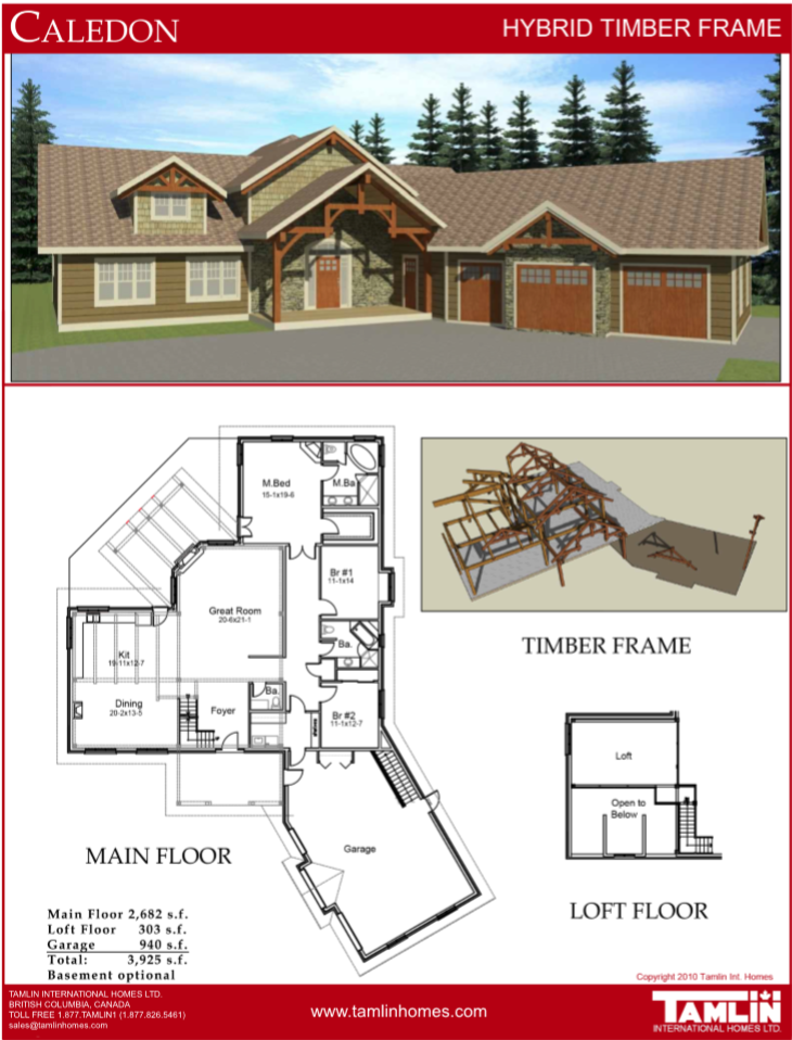 Plans Above 2500 Sq Ft Tamlin Homes Timber Frame Home Packages Doma Iz Kedra Dom Kedry