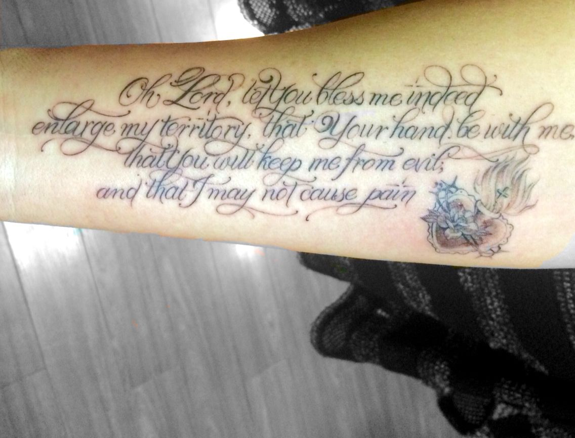 Prayer of Jabez, my new special tattoo. | tattoo | Pinterest ...