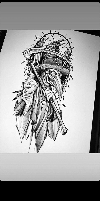#чума #tattoo #blacktattoo