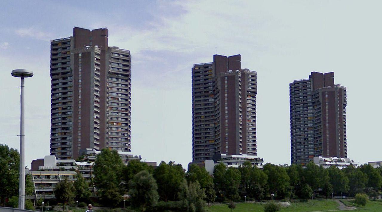 Collective housing - #architecture #googlestreetview #googlemaps #googlestreet #germany #mannheim #brutalism #modernism