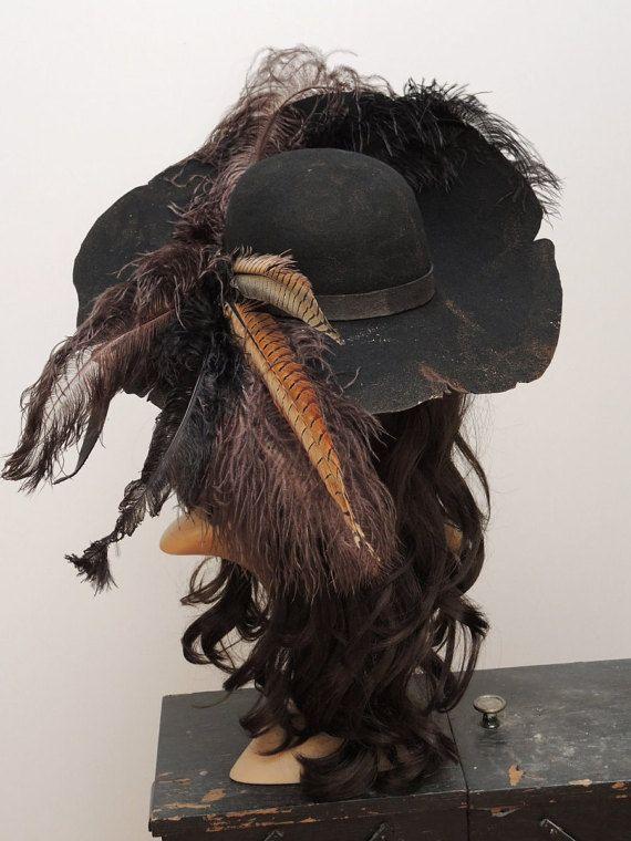 Barbossa Pirate Hat // Piratenhut // Barbossa Steampunk // | Piraten ...