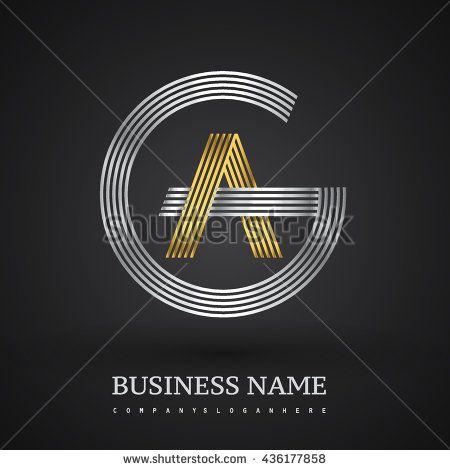 Letter GA or AG linked logo design circle G shape Elegant silver - new zulu formal letter format