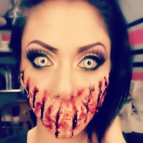stitched mouth makeup - Google Search | Halloween | Pinterest | Fx ...