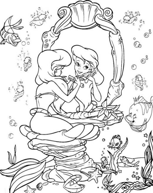 Free Little Mermaid Coloring Pages | COLOR! | Pinterest | Mermaid ...
