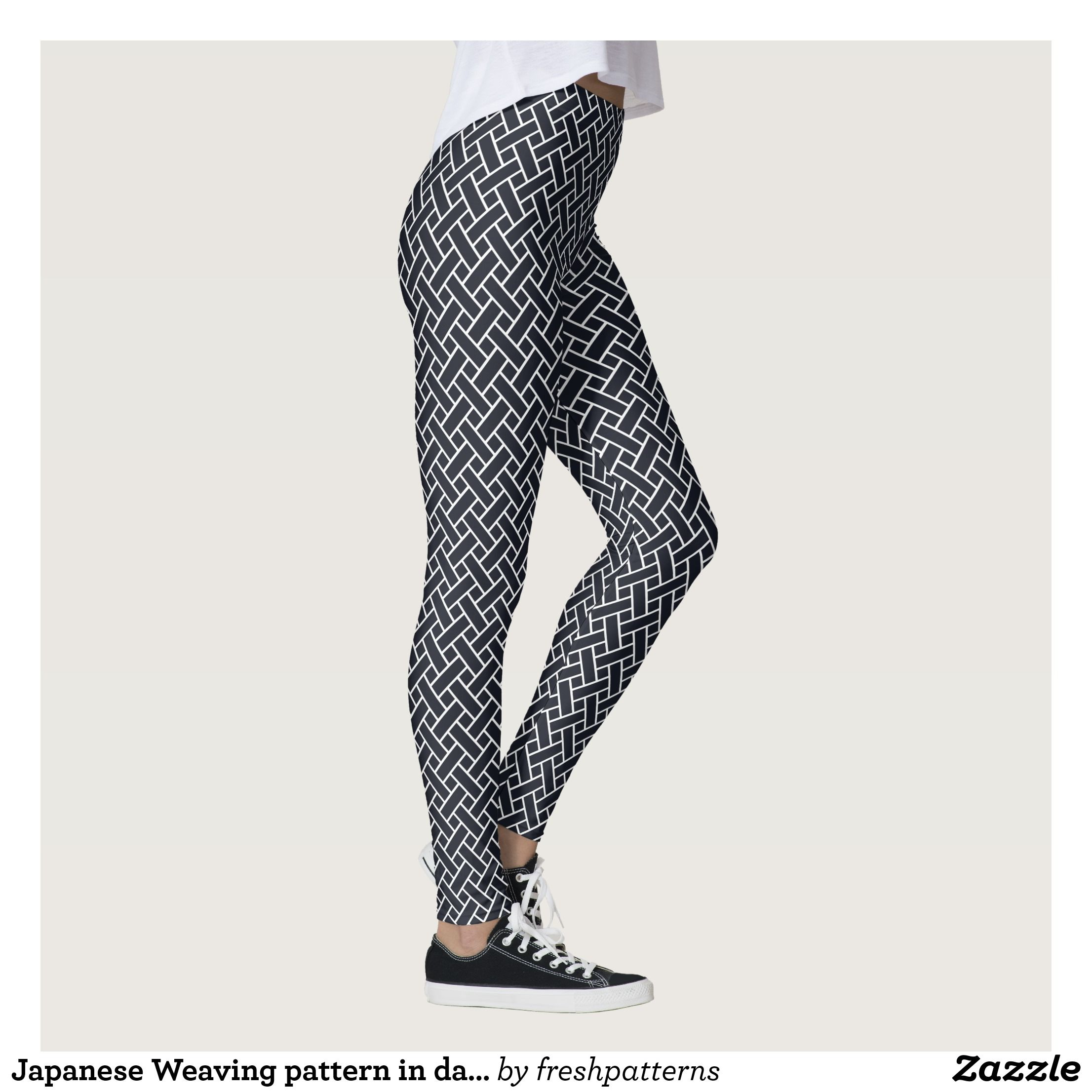 B/&W CHEVRON PRINT LEGGINGS