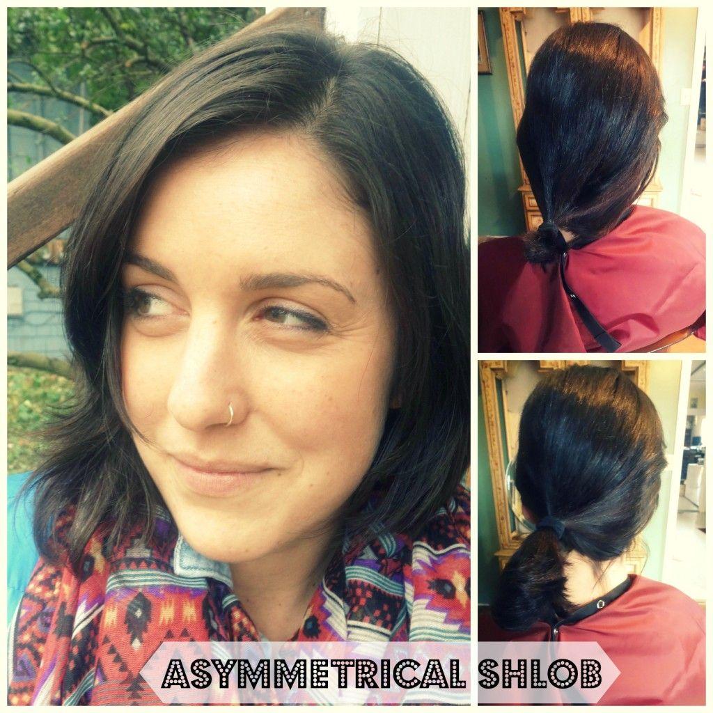 Roxiejanehunt Asymmetrical Shlob Diy Haircut Diy Ponytail Ponytail Haircut