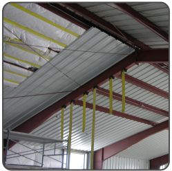 Steel Building Insulation Strapping in 2020 | Steel ...