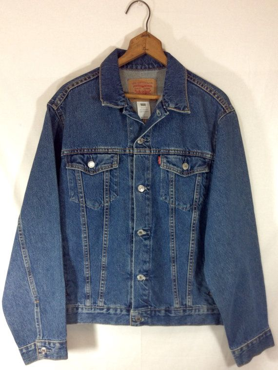Men's Levis Denim Jacket size XL by MysticPincushion on Etsy $33.00