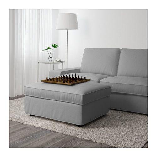 Kivik Footstool With Storage Orrsta Light Gray Ikea Storage