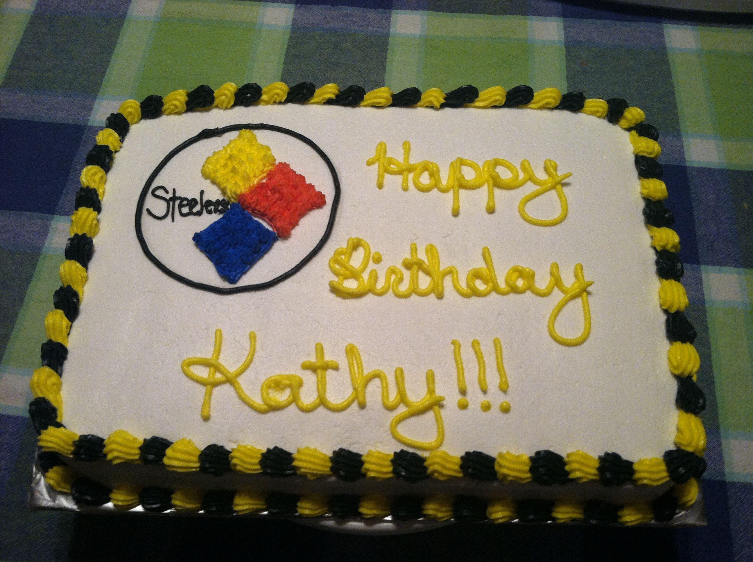 Steelers birthday cake Cakey Cake Pinterest Birthday cakes