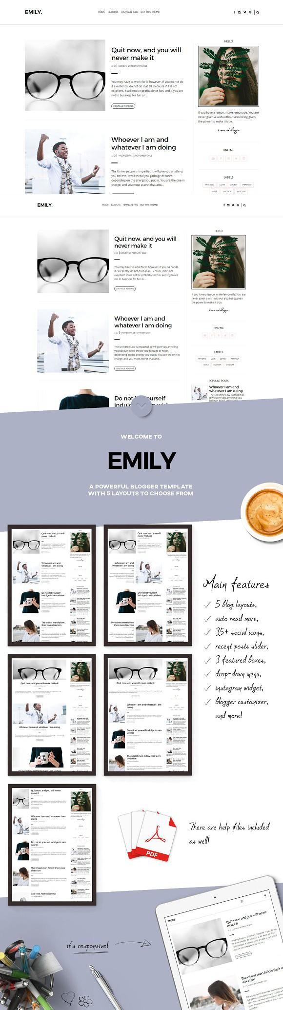 Modern blogger template emily logos modern blogger template emily maxwellsz