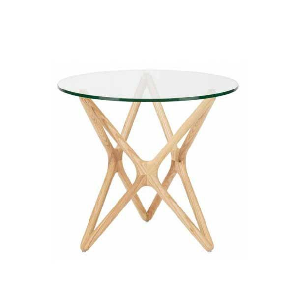 Star Clear Glass Side Table