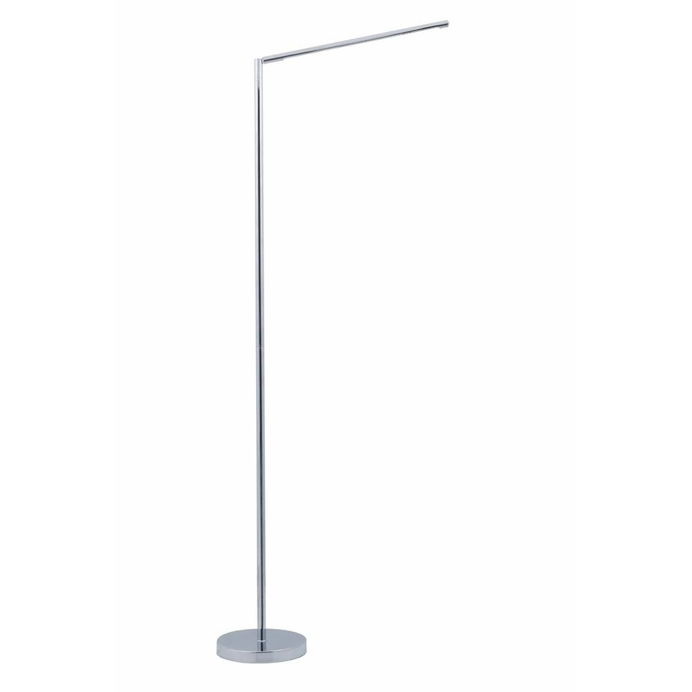 Vision 51 In Polished Chrome Led Floor Lamp With Adjustable Stand